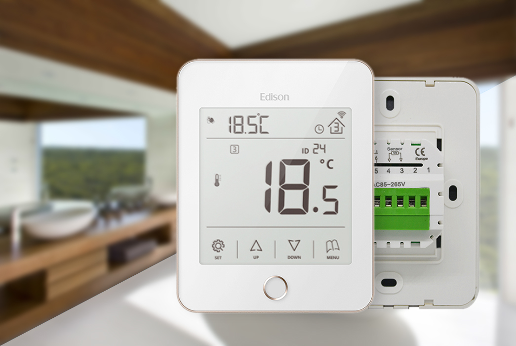 wireless heating controls touch black heating heating room thermostat manufacture