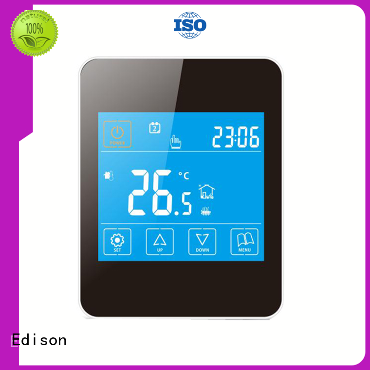 Edison Brand touch room energysaving heating room thermostat manufacture