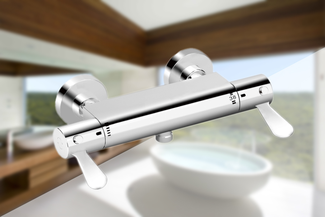 thermostatic bath shower mixer convenient mixing anti-scalding Edison Brand
