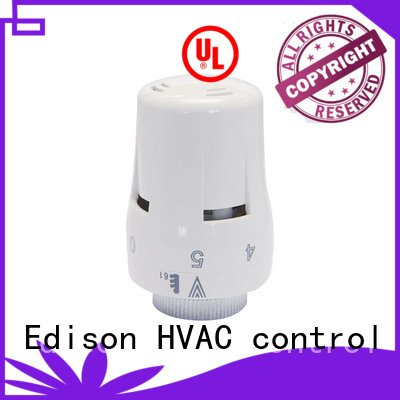 comfortable angle Edison Brand electronic thermostatic radiator valves factory